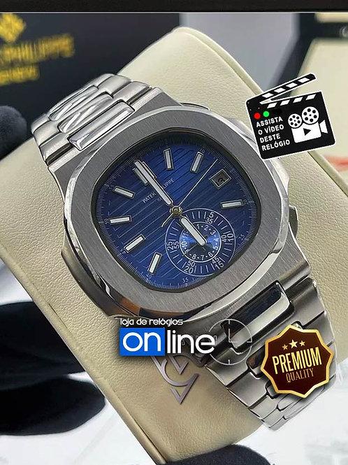 Réplicas de Relógios Patek Philippe Nautilus Azul