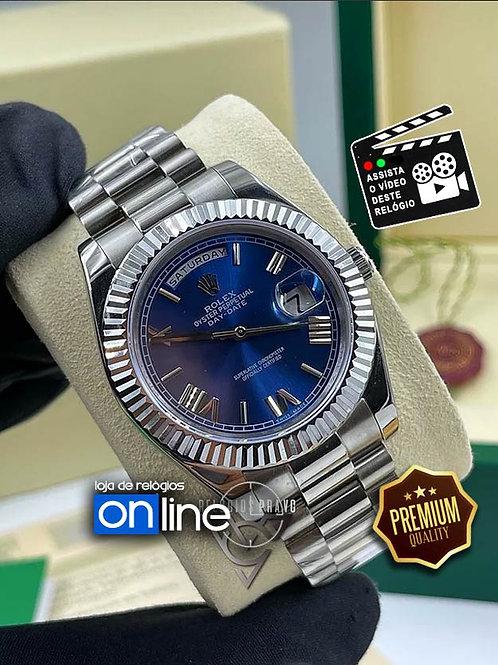 Relógios Rolex - Kit Rolex Daydate Azul
