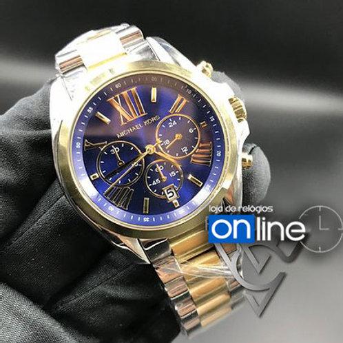 replica de relógio MICHAEL KORS dourado azul
