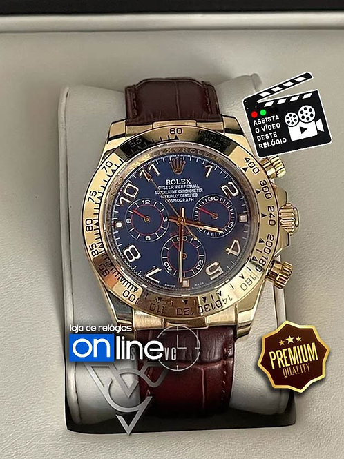 Réplicas de Relógios Rolex Daytona Gold Pulseira Couro