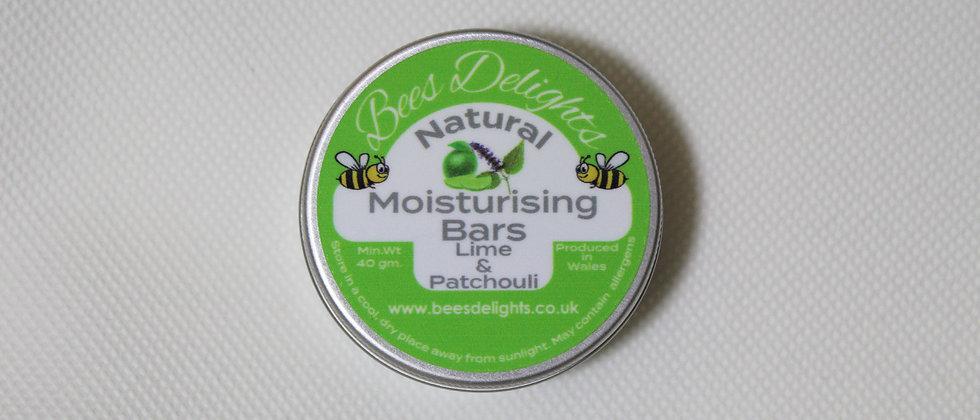 Moisturising Bars - Lime & Patchouli 40g 2 x 20g Bars