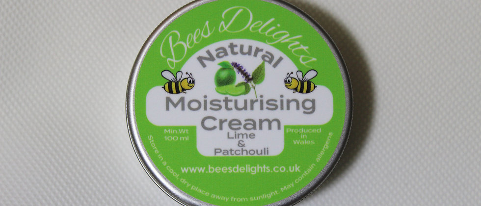 Natural Moisturising Cream - Lime & Patchouli 100ml