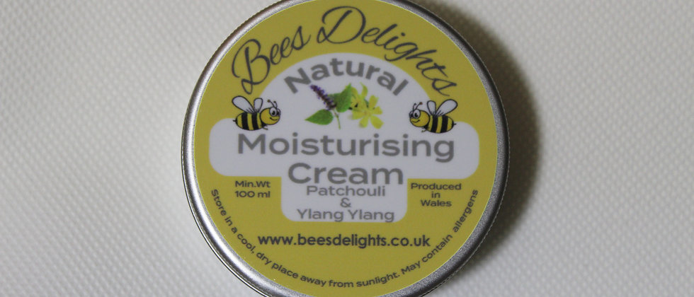 Natural Moisturising Cream - Patchouli & Ylang Ylang 100ml