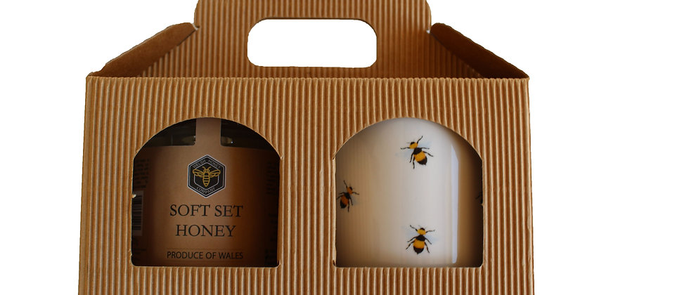Welsh Soft Set Honey & Bee Mug Gift Box