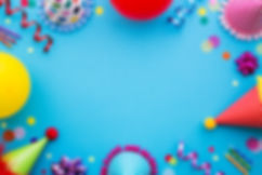 Birthday party background with party hat