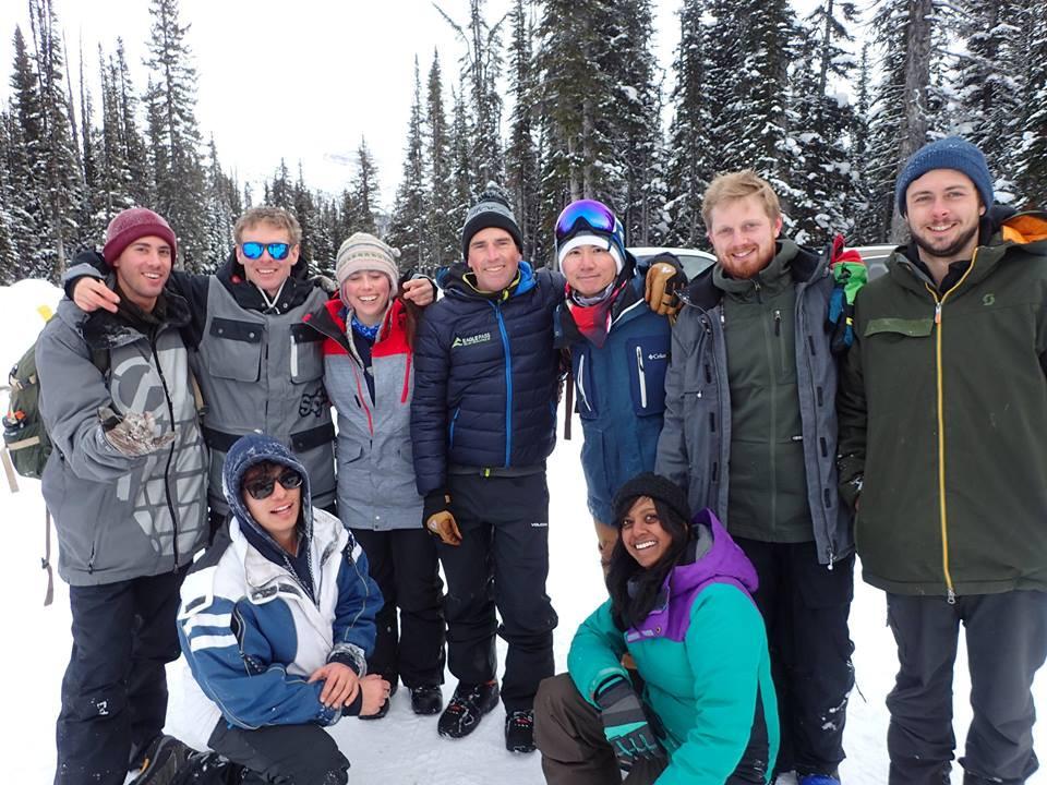雪崩技術訓練學員合照