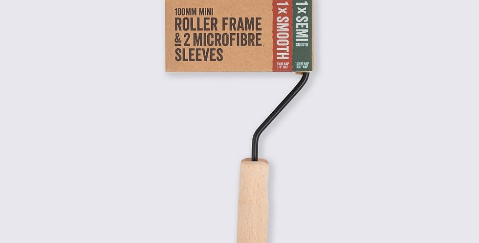 """copy of Wooden handle frame includes 2 rollers 4"""""""