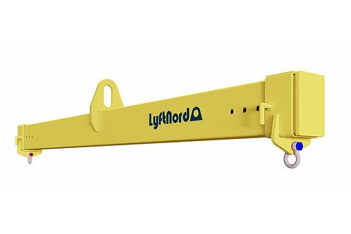 L1005. Lyftok med ställbar lastbredd med låstapp