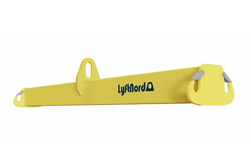 L1014. Lyftok med ramshornskrok på ändplåtarna
