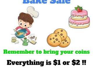 Room 6 Fundraising - Bake Sale this Friday