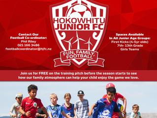 Hokowhitu Junior Football