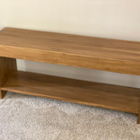 Solid poplar bench - antique oak finish