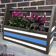 Painted tool box, solid poplar