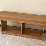 Solid poplar bench with divided storage