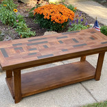 Plank-top bench