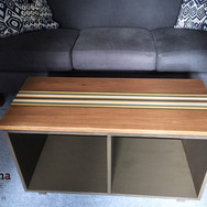 """Coffee table, stained and painted. Solid poplar, 36"""""""
