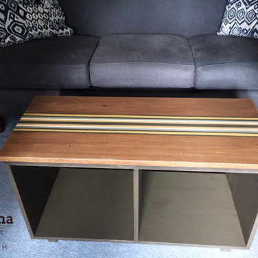Coffee table, stained and painted. Solid poplar, 36""
