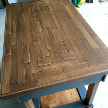 Kitchen island, solid poplar and pine