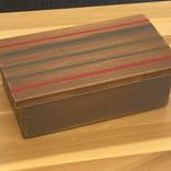 Small striped treasure box