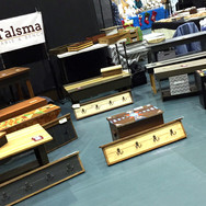 Various pieces on display at College of DuPage craft show, Glen Ellyn, IL