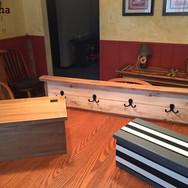 Treasure boxes and coat rack. Solid poplar