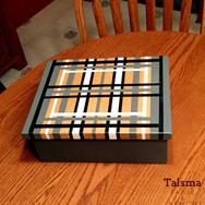 "Painted treasure box. Solid poplar, 11 1/4"" x 9"" x 4 1/2"""