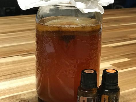 DIY Kombucha with Essential Oils