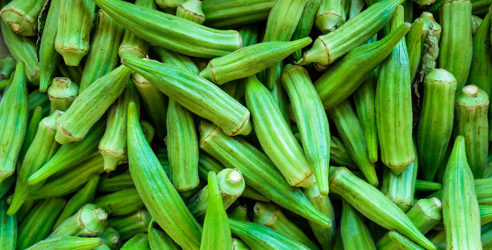 Clemson Spineless Okra 2 oz approx  400 seeds