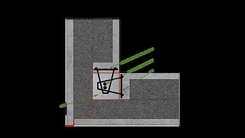 Coupe d'angle des murs Magmur30 et Magmur42