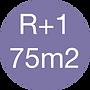 Rez de chaussée + Etage - 75m2