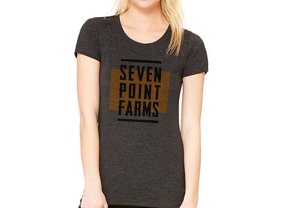 Seven Point Farms Dark Grey Unisex T-shirt