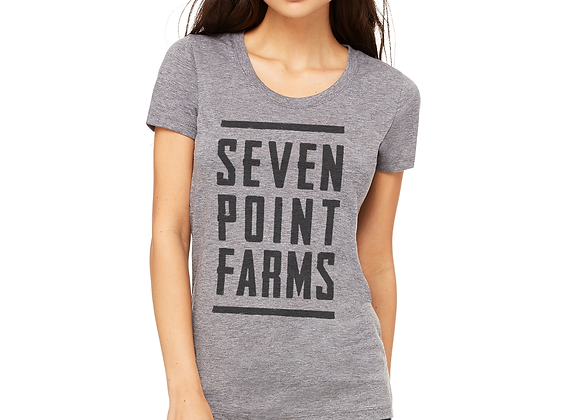 Seven Point Farms Unisex Light Grey T-shirt