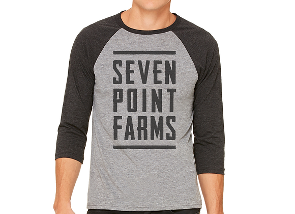 Seven Point Farms 3/4 Sleeve Baseball T-shirt