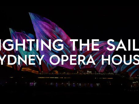 Projection-mapping Sydney Opera House