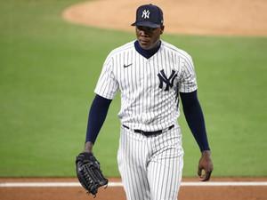 Aroldis Chapman está de regreso, ¿pero logrará encaminarse al nivel que los Yankees esperan?