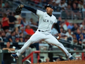 Aroldis Chapman… estuvo a un out de hacer historia en MLB