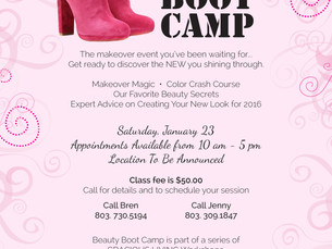 Join us for Beauty Boot Camp