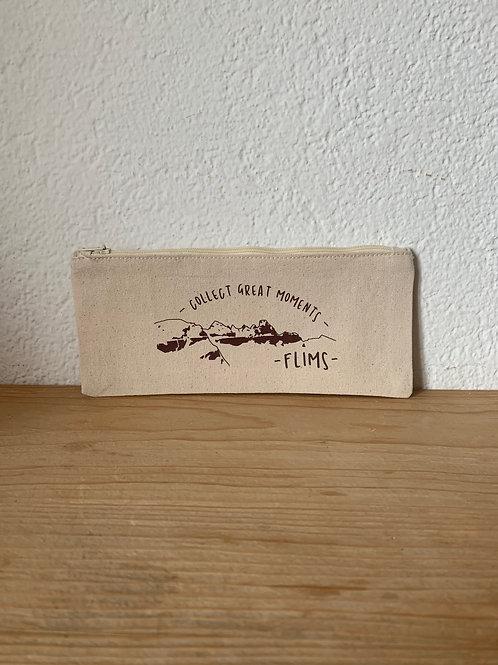 Baumwoll-Schreibetui 21 x 9 cm, Beige
