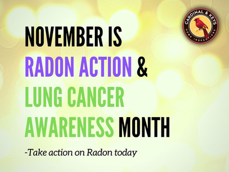 November is Radon Action Month and Lung Cancer Awareness Month