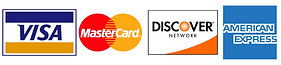 Visa, Mastercard, American Express, Discover, Accepts credit cards