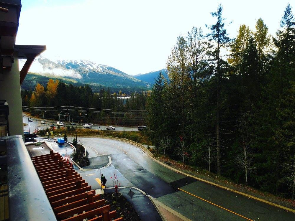 Mountain view from Balcony in Rainbow, rainy day