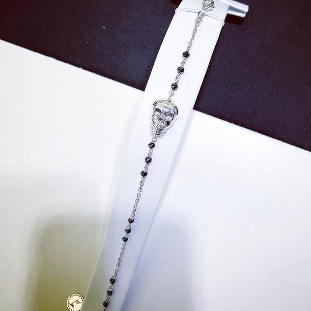 Bracciale unisex in oro bianco 18kt con