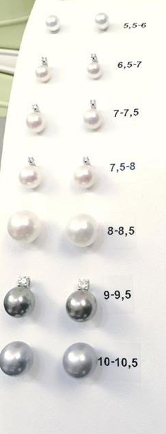 Orecchini di perle ne abbiamo? Giapponesi, polinesiane, Akoya,