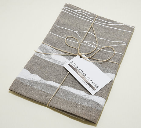 Linen Tea Towel (Brown)