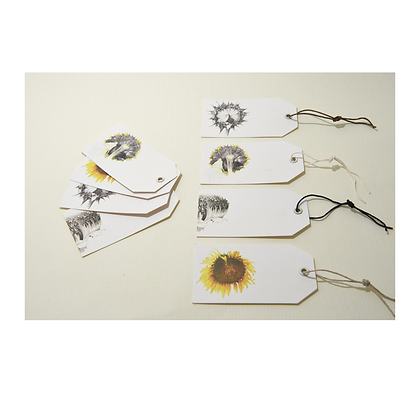Sunflower Gift Tags x 8
