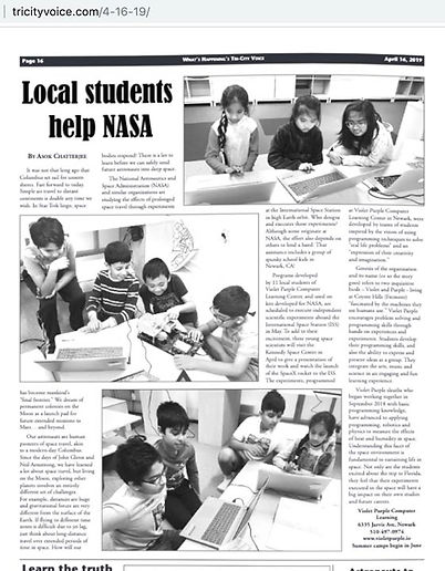 Tri-City Voice covers our journey to NAS