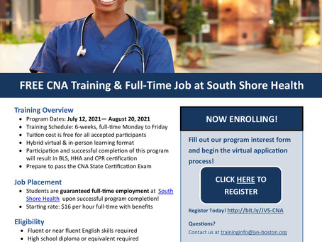 FREE CNA Training Opportunity