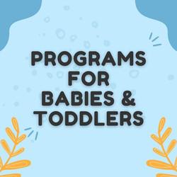 Programs for littles!