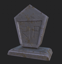 pointy tombstone