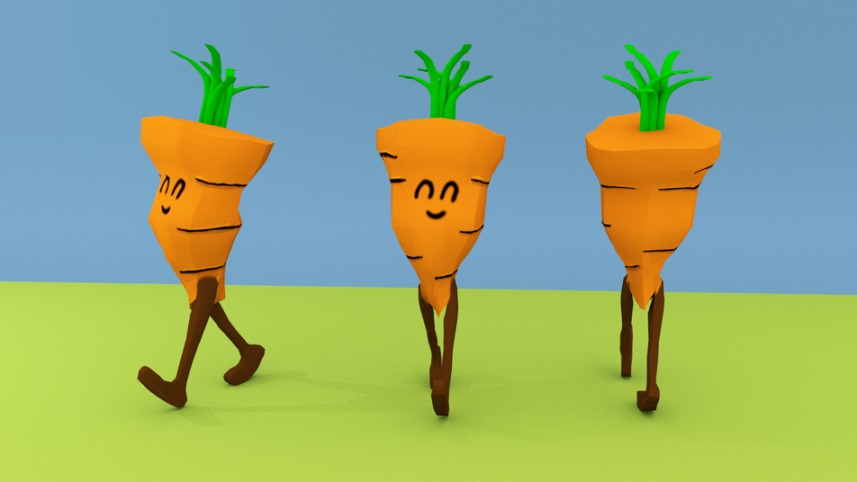 Sassy Carrot Walk Cycle